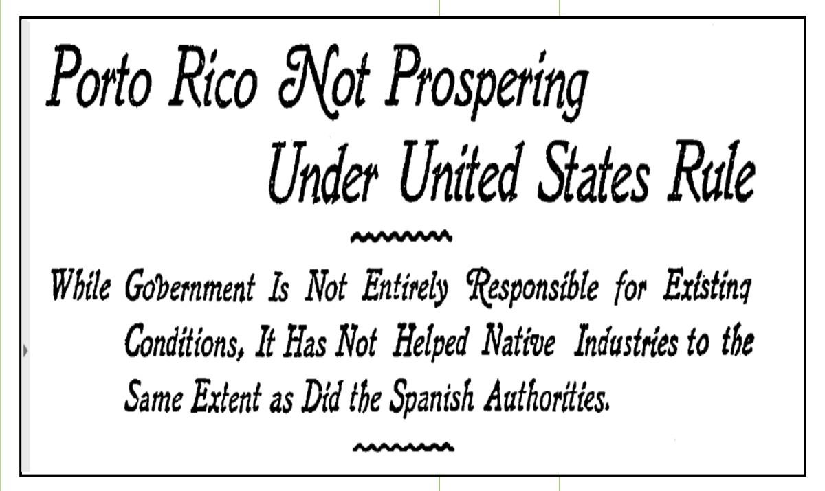 """Estados Unidos: """"Puerto Rico con España era más próspero"""""""